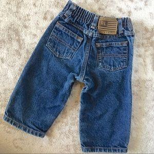 Ralph Lauren Jeans Baby Boy 6-12 months Snaps Blue